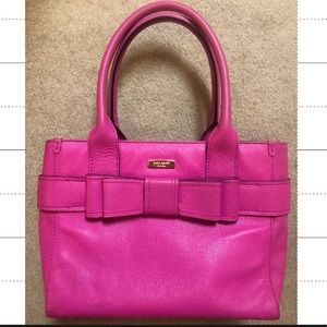 Pink Kate Spade Tote with Bow